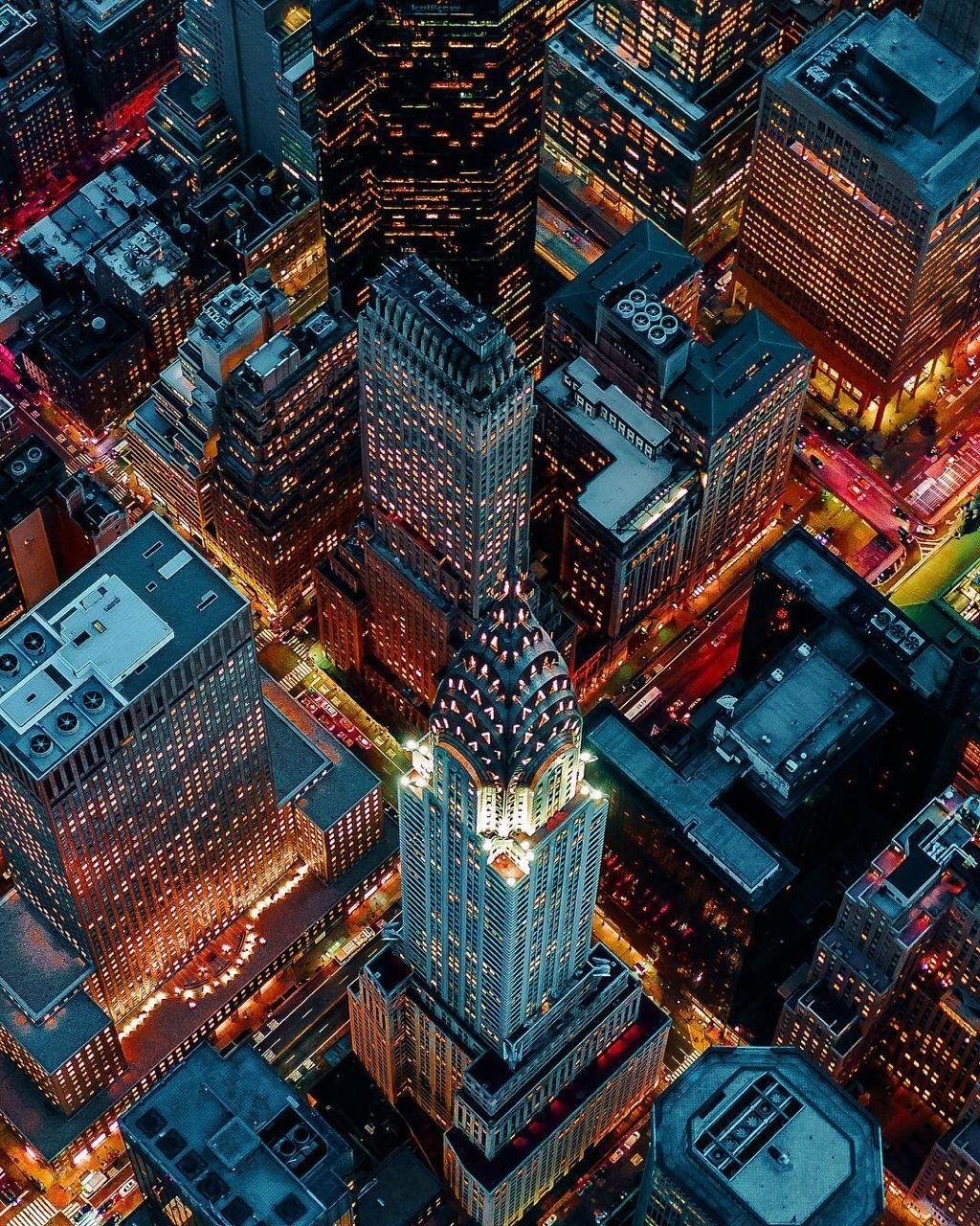 The Chrysler Building At Night By Chris Nova