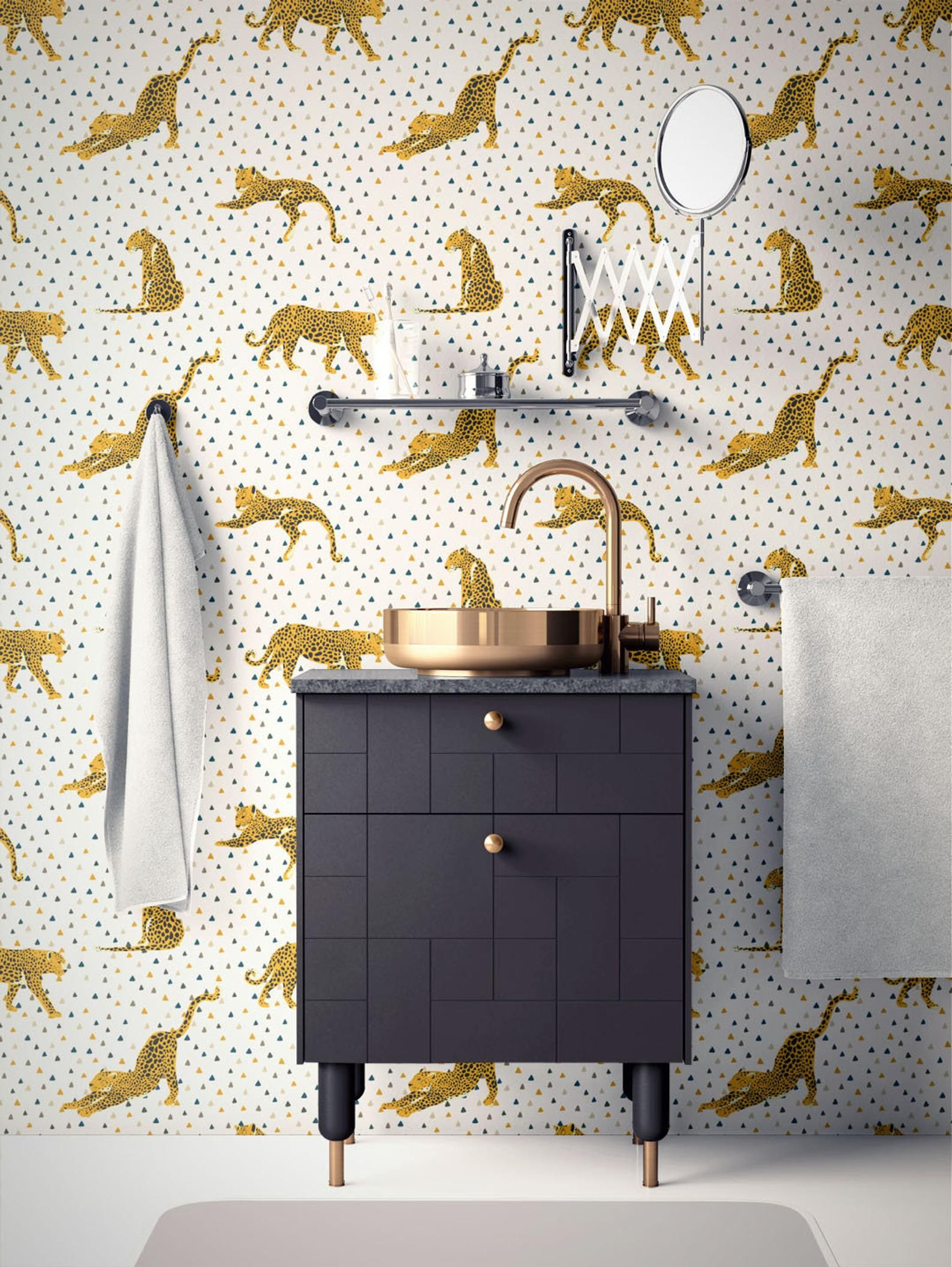 Tropical Removable Wallpaper Leopard Wallpaper Modern Etsy Peel And Stick Wallpaper Removable Wallpaper Self Adhesive Wallpaper