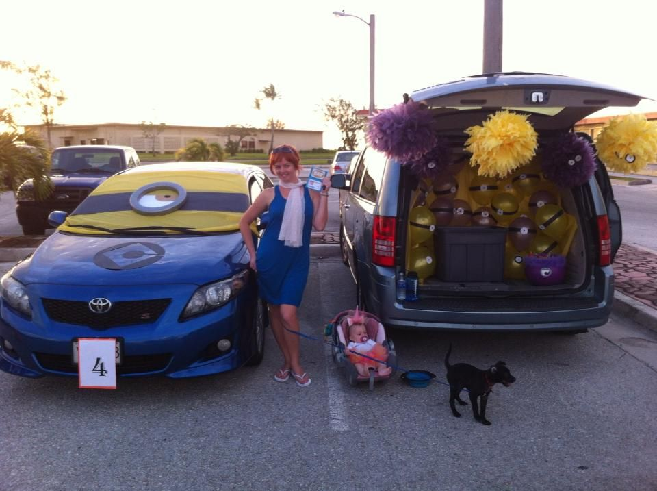 Despicable Me trunk or treat. First place!!