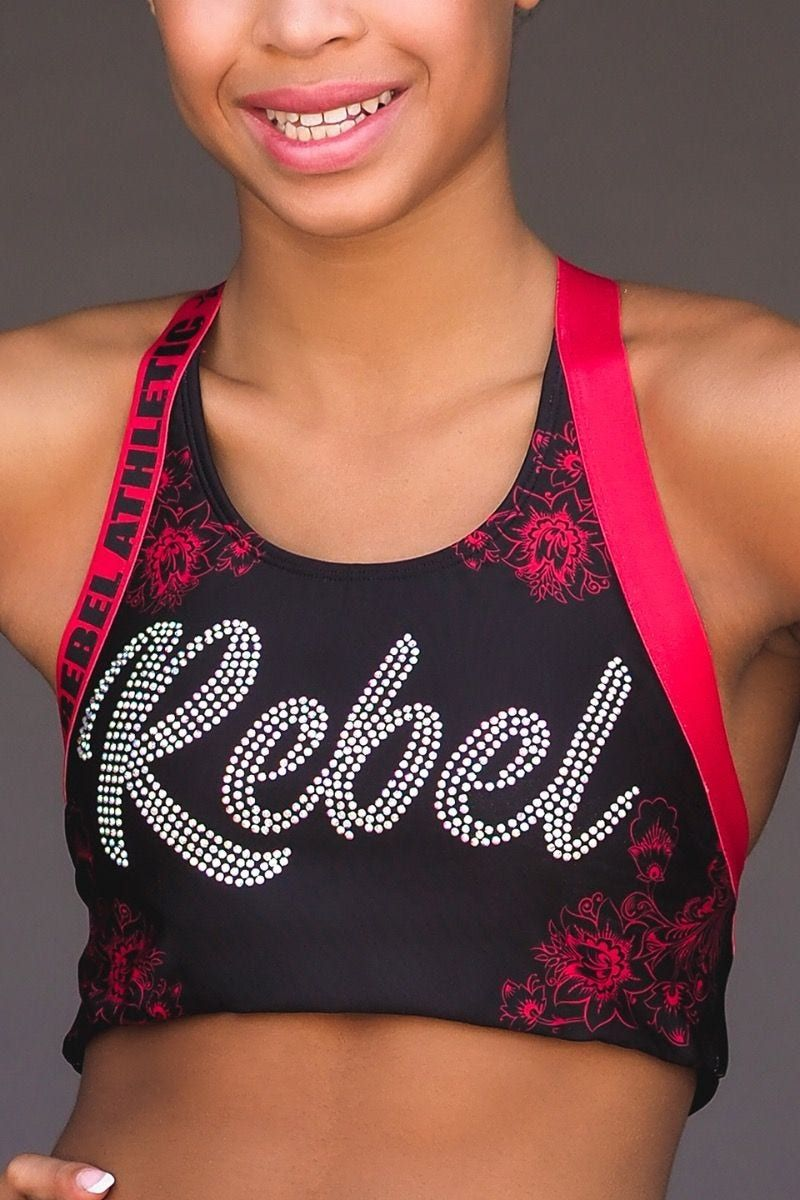 Red Roses Sports Bra Sports bra, Athletic outfits, Bra
