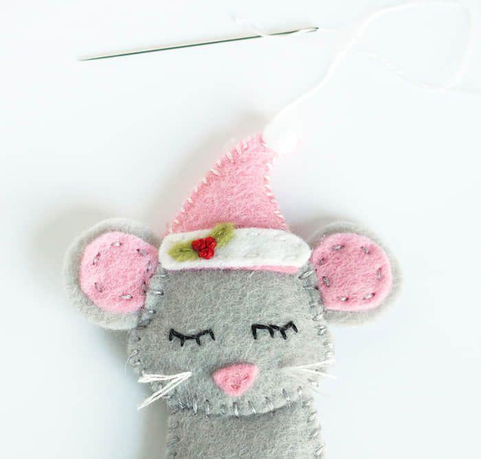 Como hacer ratones navideños con moldes03 | Diseños de bordados a ...