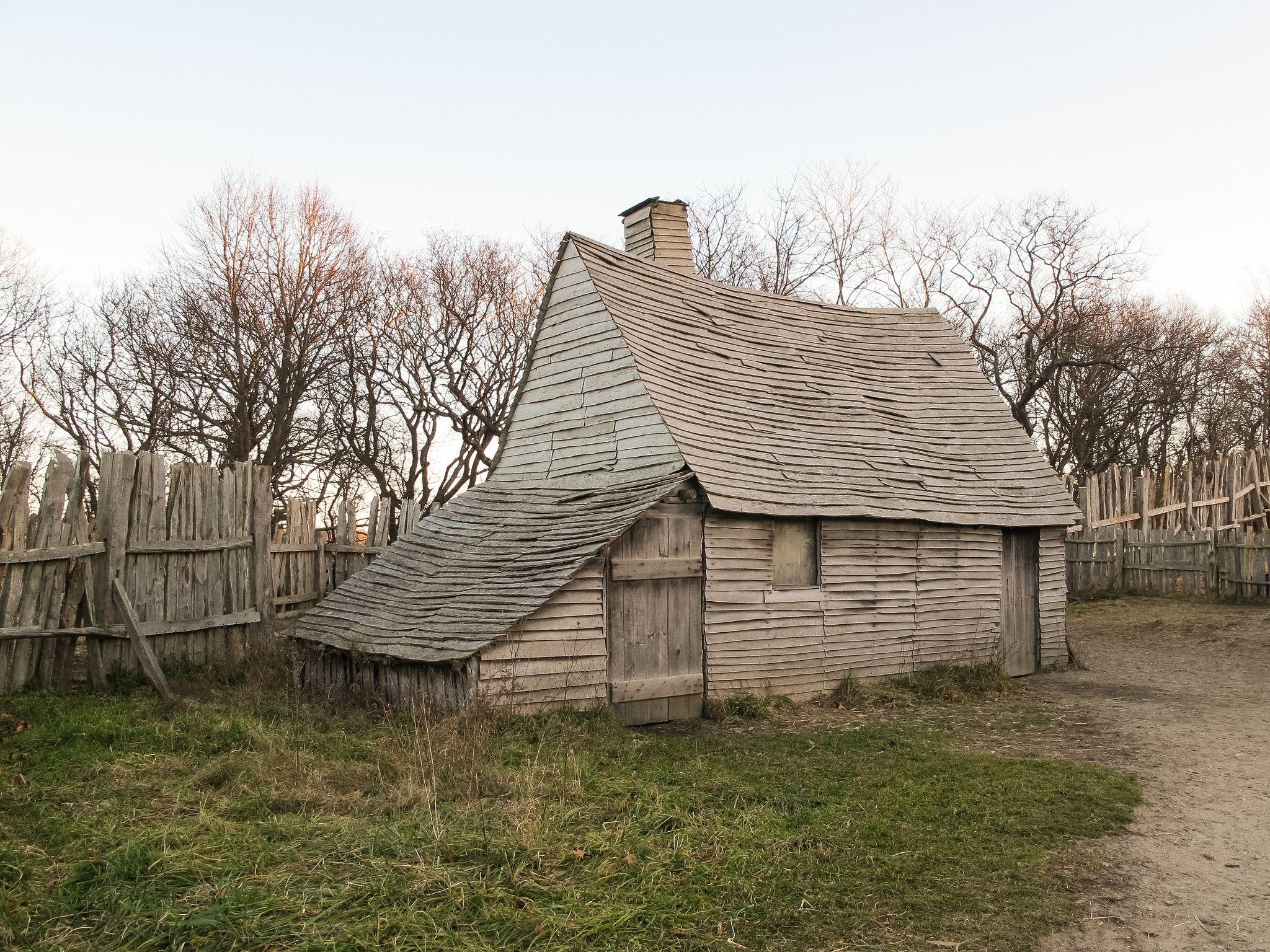 Plimoth Plantation settlement 17th Century in 2019