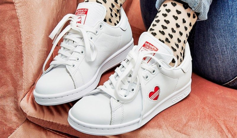 adidas Stan Smith Red Heart Valentine's Day Shoes in 2019