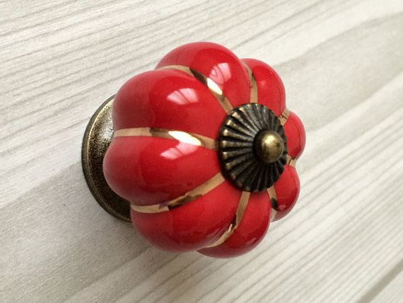 red cabinet knobs pumpkin knobs kitchen dresser by lynnshardware rh pinterest com