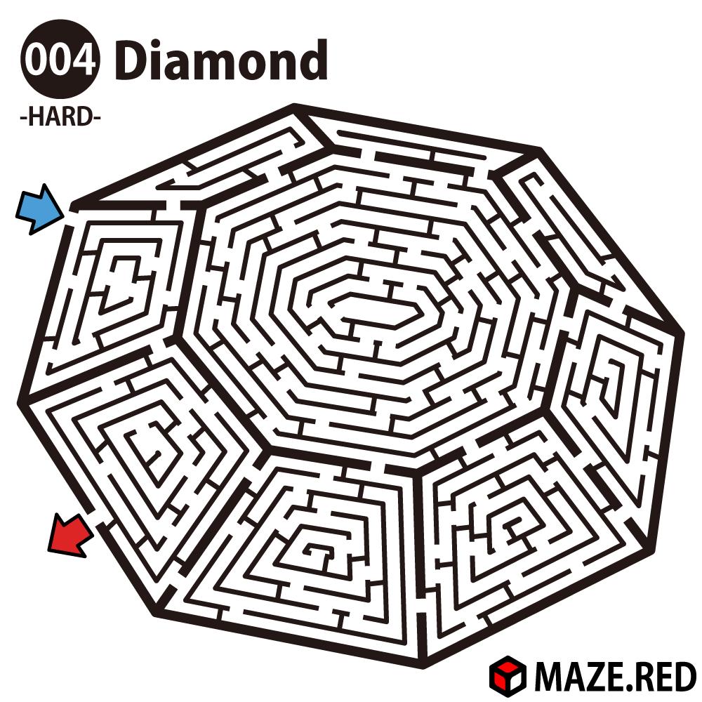 Difficult Maze Of The Diamond Memory Pinterest Laberintos
