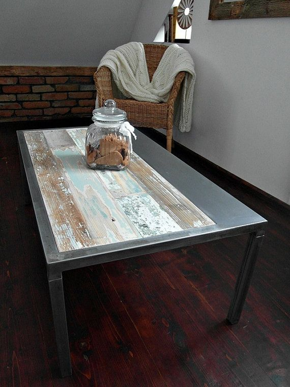 Reclaimed wood table ideas Pinterest Mesa de centro madera
