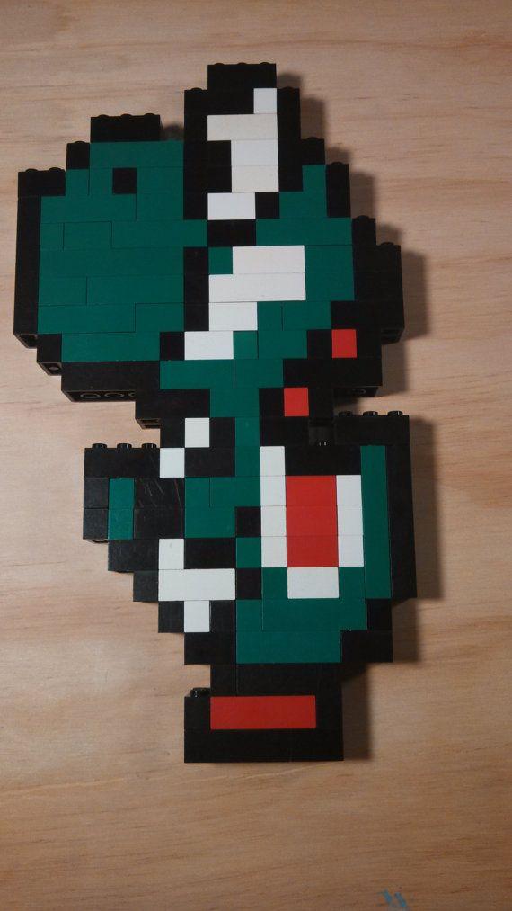 Lego Super Mario Brothers Pixel Art 3d 2d Yoshi Figure 9