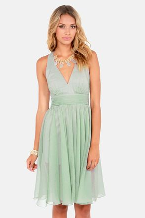 Check it out from Lulus.com! Start with the stunning Blaque Label Fall Into Grace Sage Green Dress and the rest of your outfit will simply fall into place! Elegant sage green crepe gathers at the banded waist to emphasize your figure, while a plunging V-neck and tank straps that crisscross an open back provide a classy level of sex appeal. A flowing full midi-length skirt is effortlessly ethereal over a fitted lining. Hidden side zipper/hook clasp. Lined to mid-thigh. Model is wearing a size…