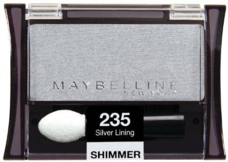 Maybelline New York Expert Wear Eyeshadow Singles, Silver Lining 235 Shimmer, 0.09 Ounce, Pack of 2 * Click image to review more details.