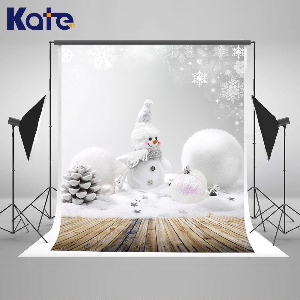 7x5FT Vinyl Backdrop Photography Christmas Snowman Decoration Ornaments Jingle Bells Star Snowflakes Snowy Atmosphere Background Bokeh Effect Scene Party Decorations Photo Stduio Prop