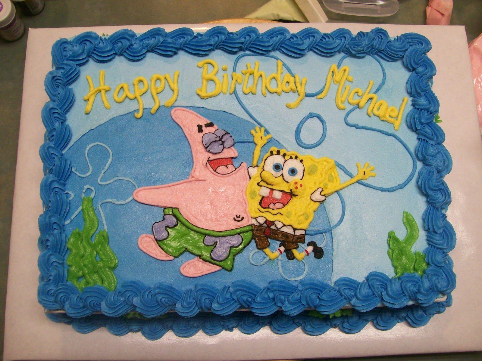 Spongebob Squarepants Buttercream Cake Spongebob And Patrick