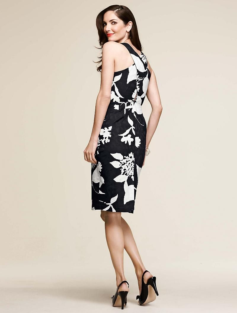 Talbots dresses for weddings  The back of this dress is adorable  my favs of Talbots spring