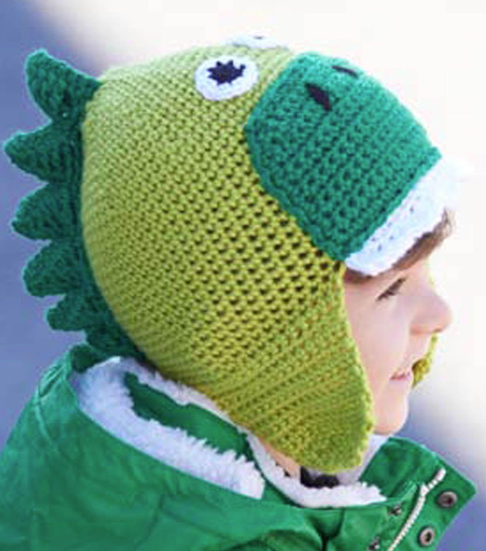 Crochet Dinosaur Hat from @joannstores | Find free crochet hat ...
