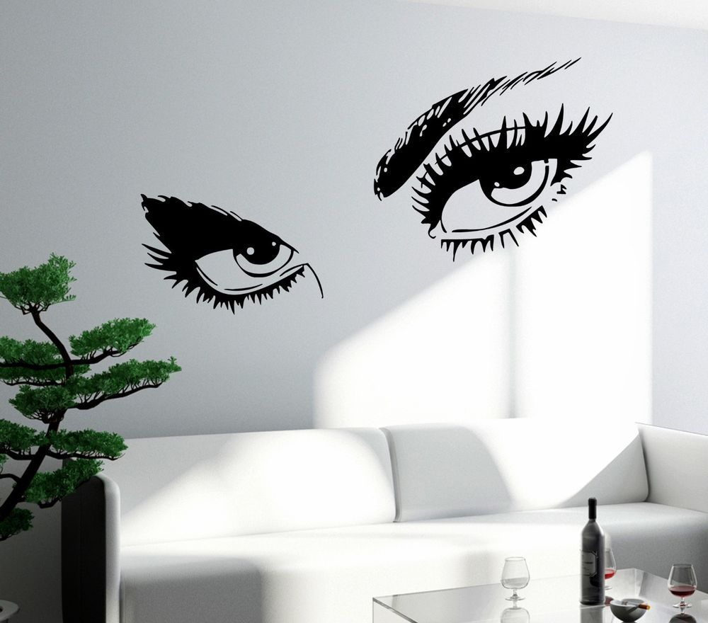 Bedroom wall stickers for teenage girls - Wall Sticker Sexy Hot Eyes Girl Teen Woman Big Decal For Living Room Decor Z2561