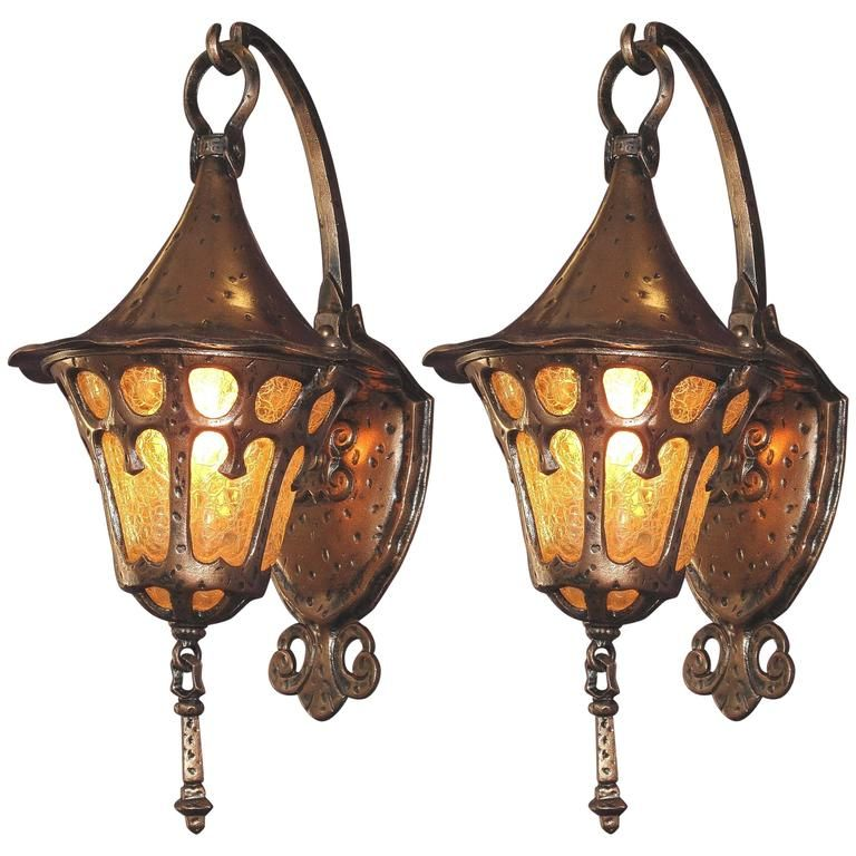 1920s Storybook Porch Lights For Sale Porch Lighting Porch Light Fixtures Art Nouveau Lighting