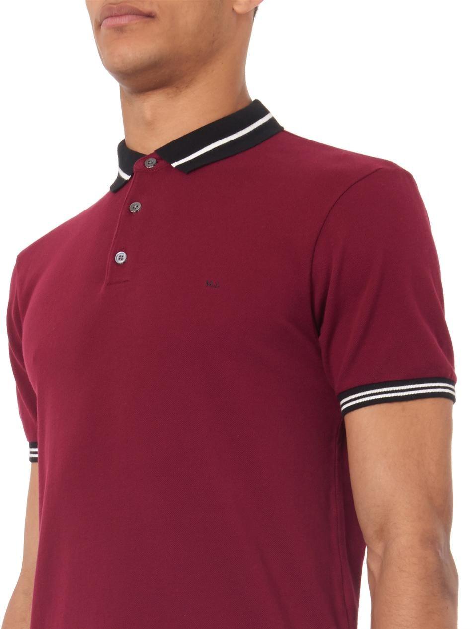 d01378ca837 Marc by Marc Jacobs Striped-trim polo shirt