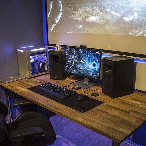 I Ve Always Wanted A Projection Screen Photo Source Reddit Gaming Room Setup Pc Gaming Setup Best Gaming Setup