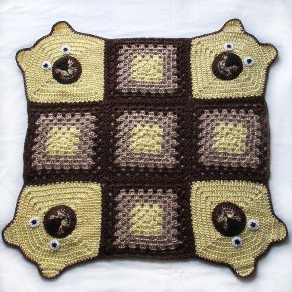 Crochet Bear Blanket,Crochet baby blanket,Bear Stroller/Travel/Car ...