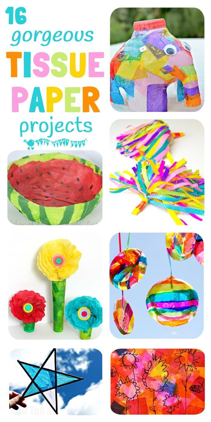 colorful tissue paper crafts | kids activities & crafts | pinterest