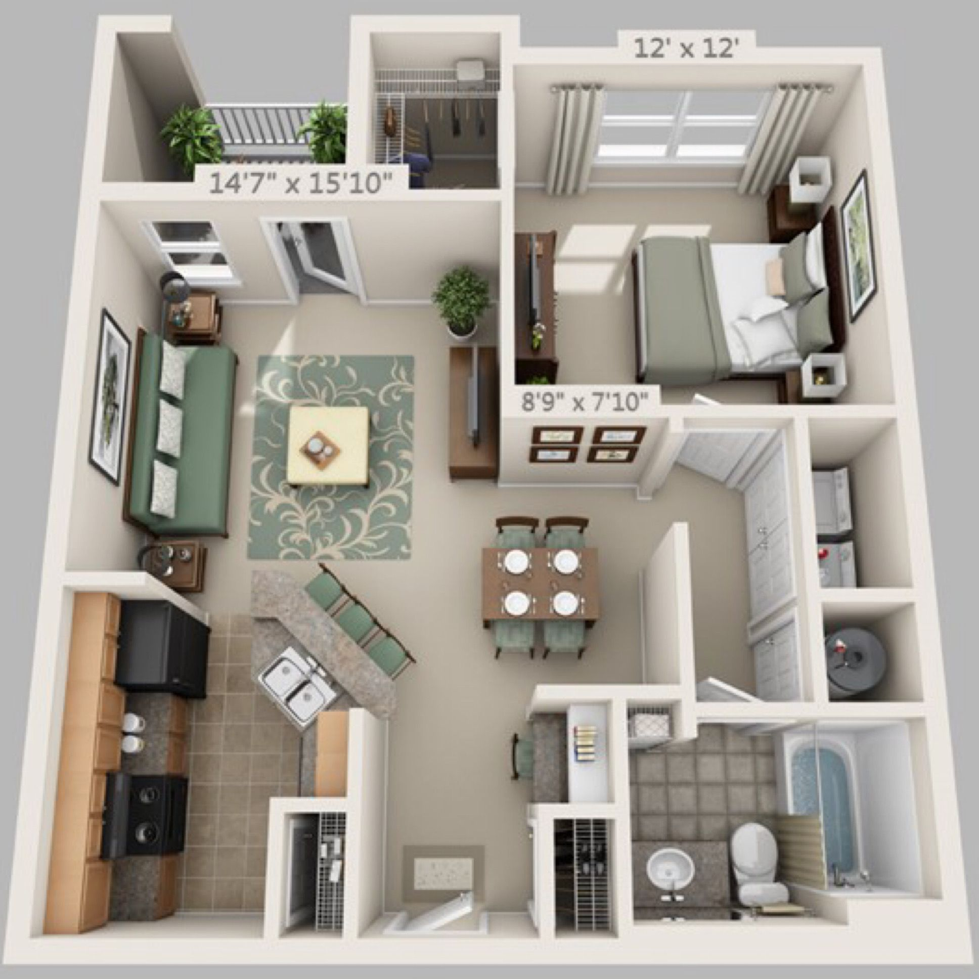Pin de janvi sharma en floor plans pinterest planos for Interiores de departamentos pequenos