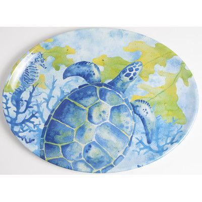 Galleyware Company Yacht and Home Sea Turtle Melamine Platter | Products