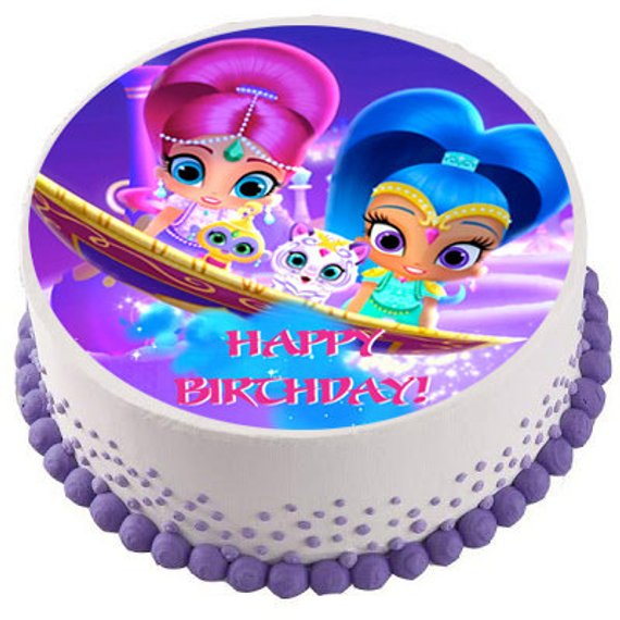 Shimmer And Shine 8 Birthday Icing Cake Topper Other Decorations Decorations Cake Toppers