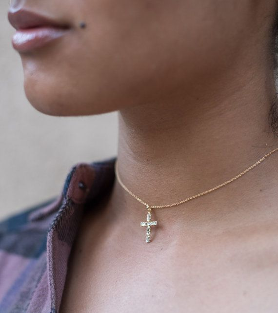 0d02c98b62d6 Gold Cross Choker Necklace