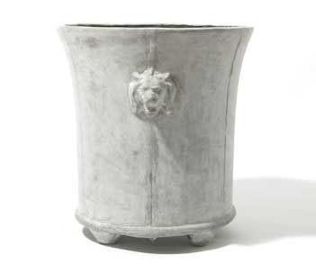CAST FROM A COE FAMILY LEAD ORIGINAL, THE LION PLANTER IS AN ART FORM IN ANY GARDEN. HANDSOME WITH A WIDE TOP OPENING THAT EXCELS AS A FOLIA...