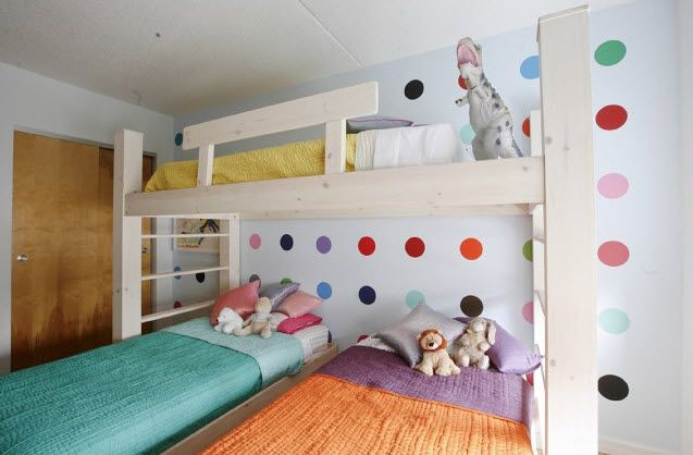 Great Idea For Girls Room When They Are A Little Older In Order To Maximize The Space We Have Love This Triplet