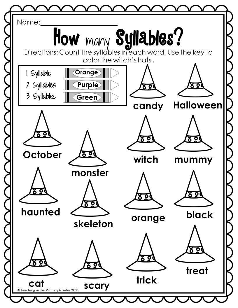 Halloween Math and Literacy Printables-(No Prep