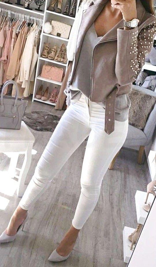 Photo of Her er hva du kan bruke på hvite jeans på en kveld ute i tilfelle du lurer på – mote kvinner 60