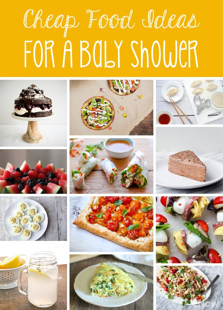 Cheap Food Ideas For A Baby Shower Recipes We Love Pinterest