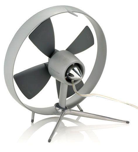 Propello Desktop Fan With Rubber Blades By Dan Black And Martin Blum