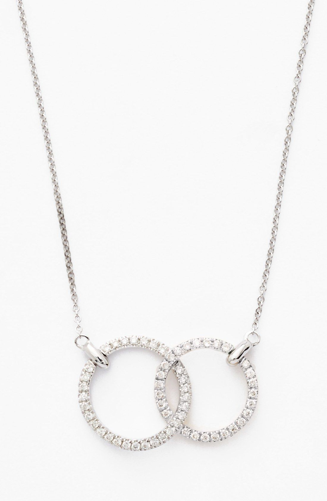 Double diamond circle pendant necklace nordstrom pendants and bony levy double diamond circle pendant necklace nordstrom exclusive aloadofball Image collections