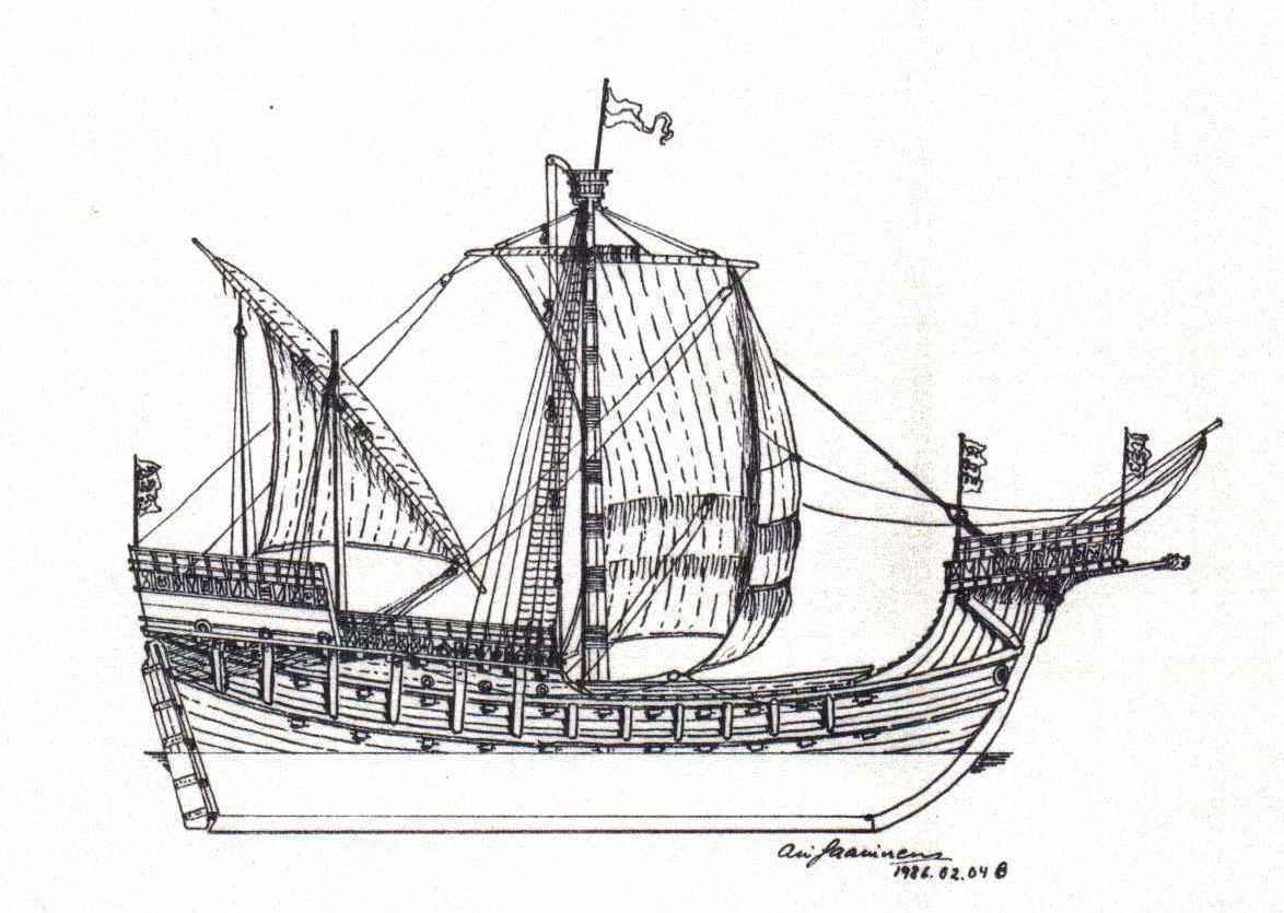 Ship Grace Dieu Google Search Early Sailing Ships Pirate Diagram Piratediary