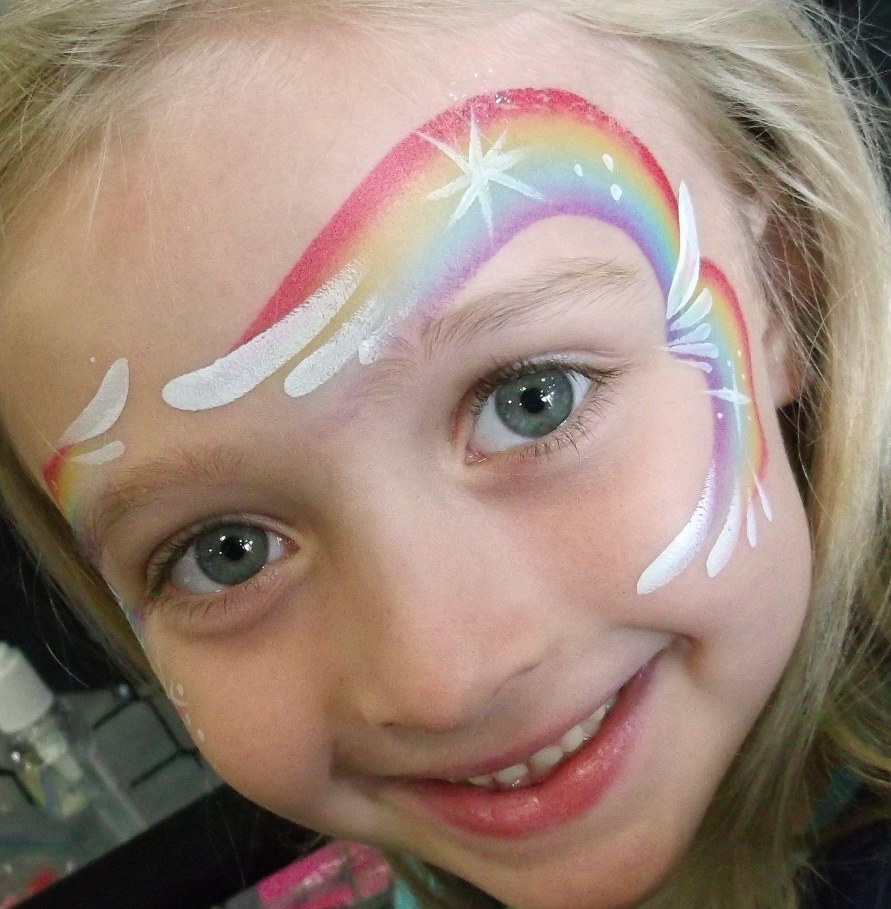 Face Painting by Linda Maquillage Arc En Ciel, Maquillage Filles, Maquillage  Enfant Facile,