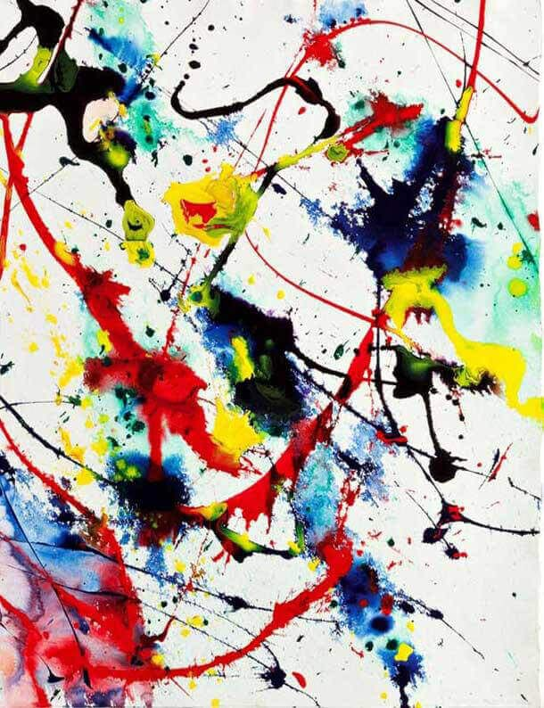 Image result for sam francis senza titolo glow