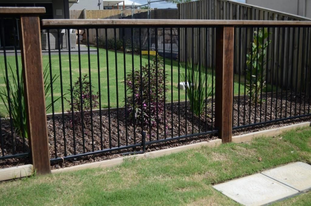 This Type Of Black Fence Is Certainly An Inspirational And