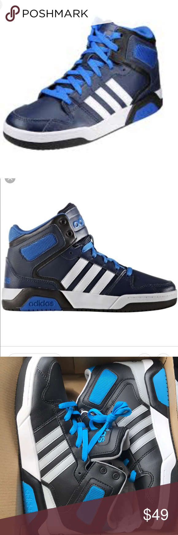 Adidas boys shoes size 7 New in box