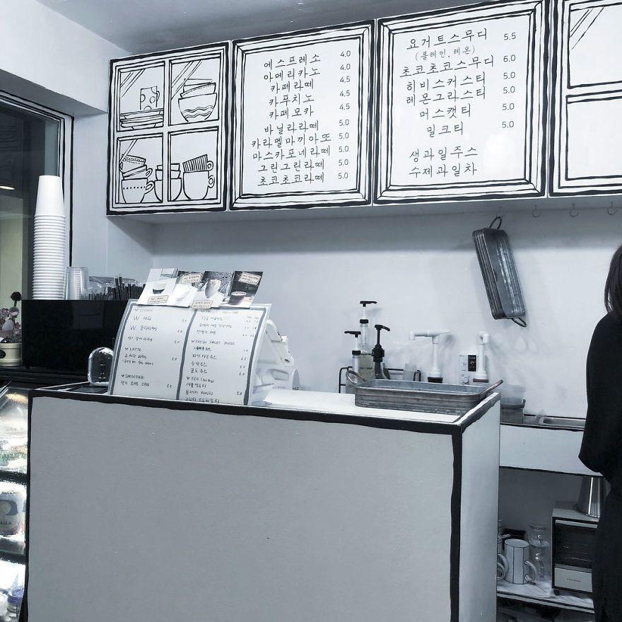This Cafe S Cartoon Aesthetic Is Something You Have To See To Believe Korean Coffee Shop Seoul Cafe Korean Cafe