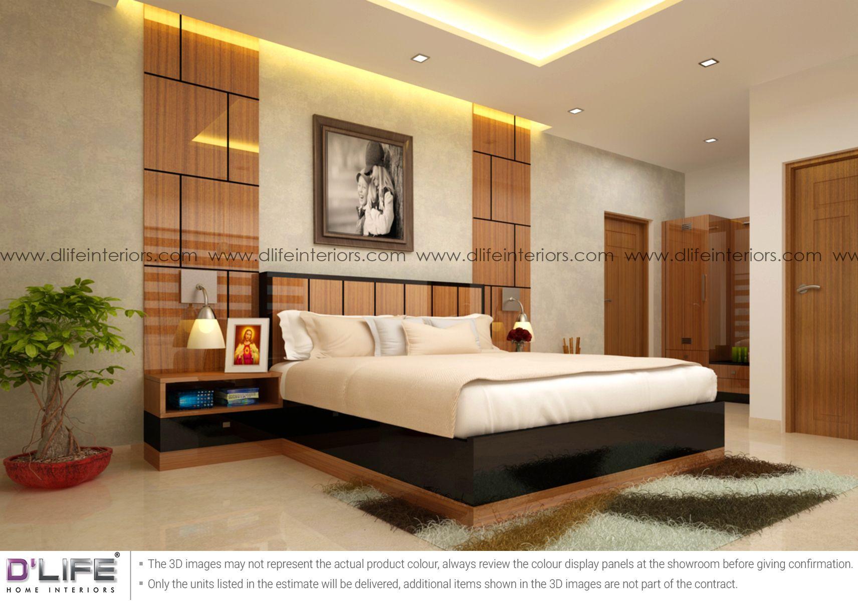 Pin on Bedroom interior design in Kerala & Bangalore