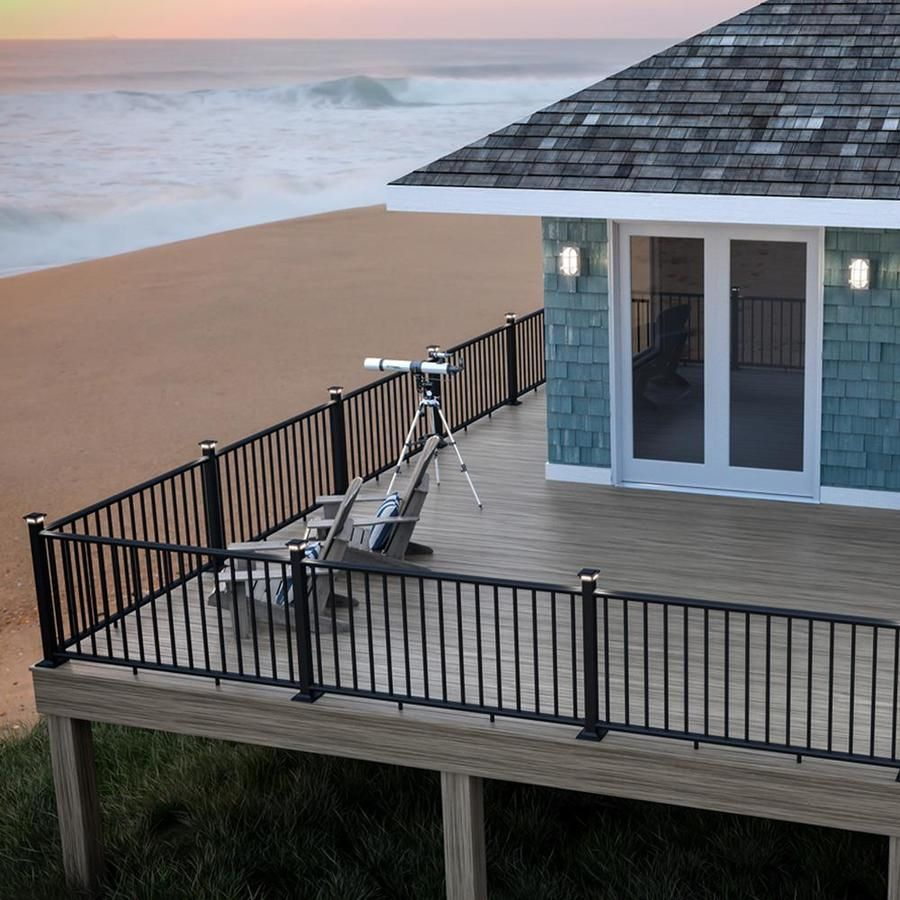 Deckorators Classic Matte Black Aluminum Deck Rail Kit