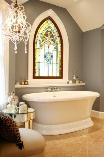 Stained glass for the bathroom \u003d sunlight without putting on a show
