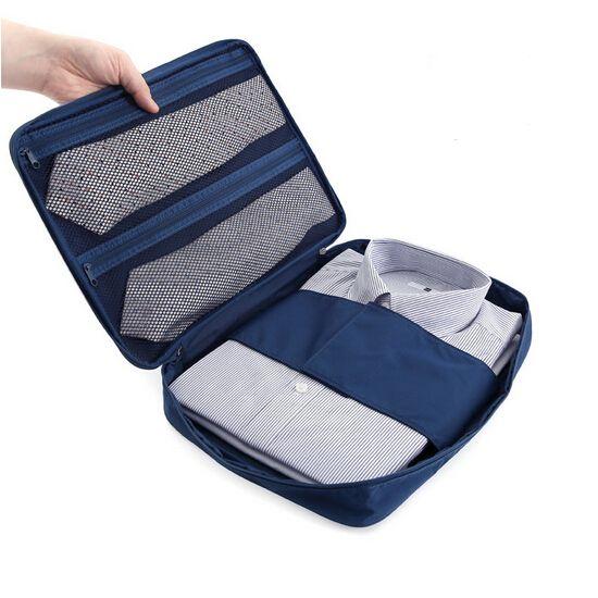 Travel Shirt Tie Sorting Pouch Zipper Organizer Waterproof Nylon Storage Bag