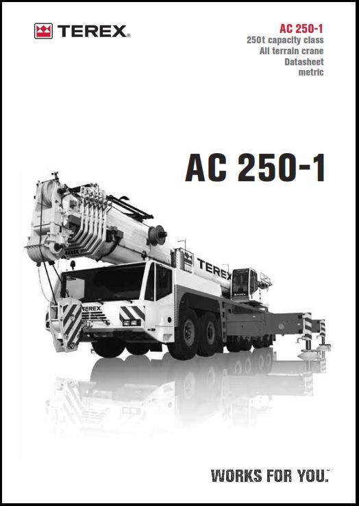 Terex-Demag-AC-250-2 | Crane Load Chart | Chart