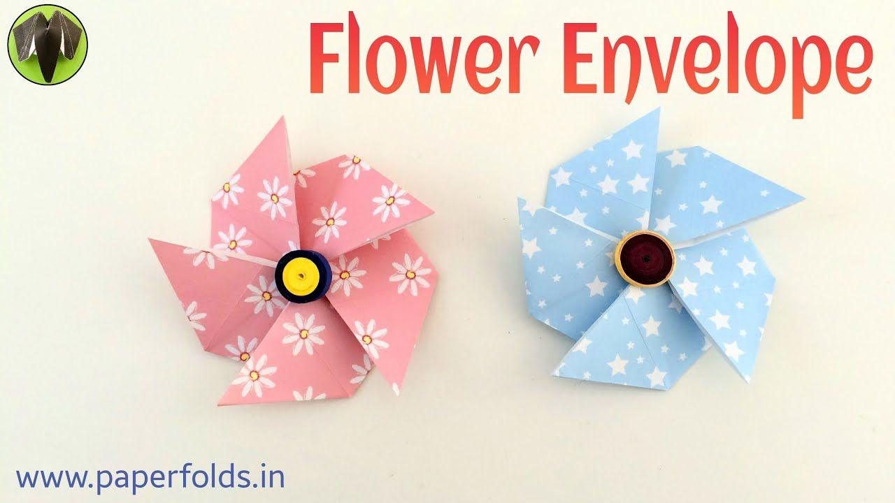 flower envelope  diy origami tutorialpaper folds