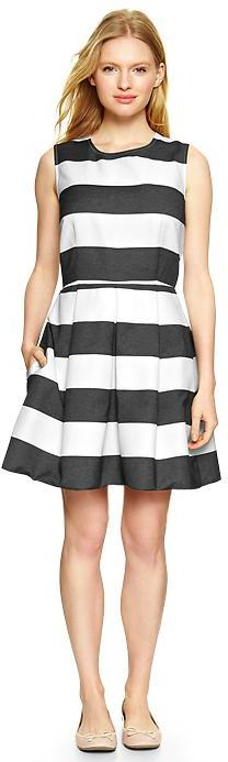 Love this rugby fit & flare dress.  Still not sure how the stripes would look on me though