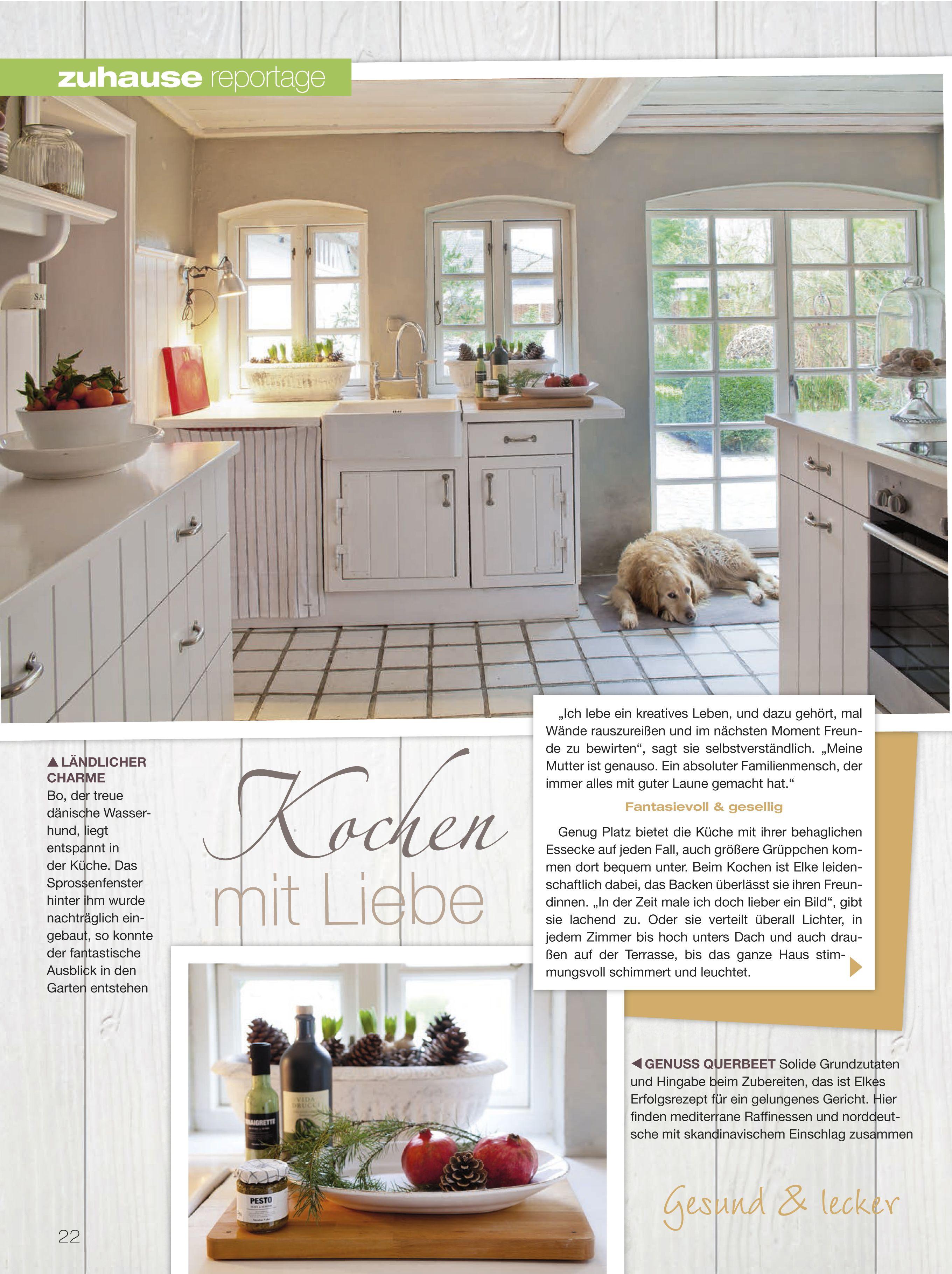 lisa wohnreportage bei elke reuter schönes heim. | kitchen, Wohnzimmer dekoo