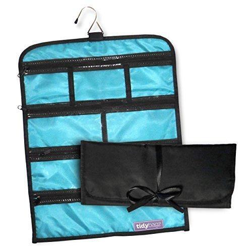 Tidybagz Jewelry Roll Bag Travel & Home Organizer Safe Zippered 7 Compartments #Tidybagz