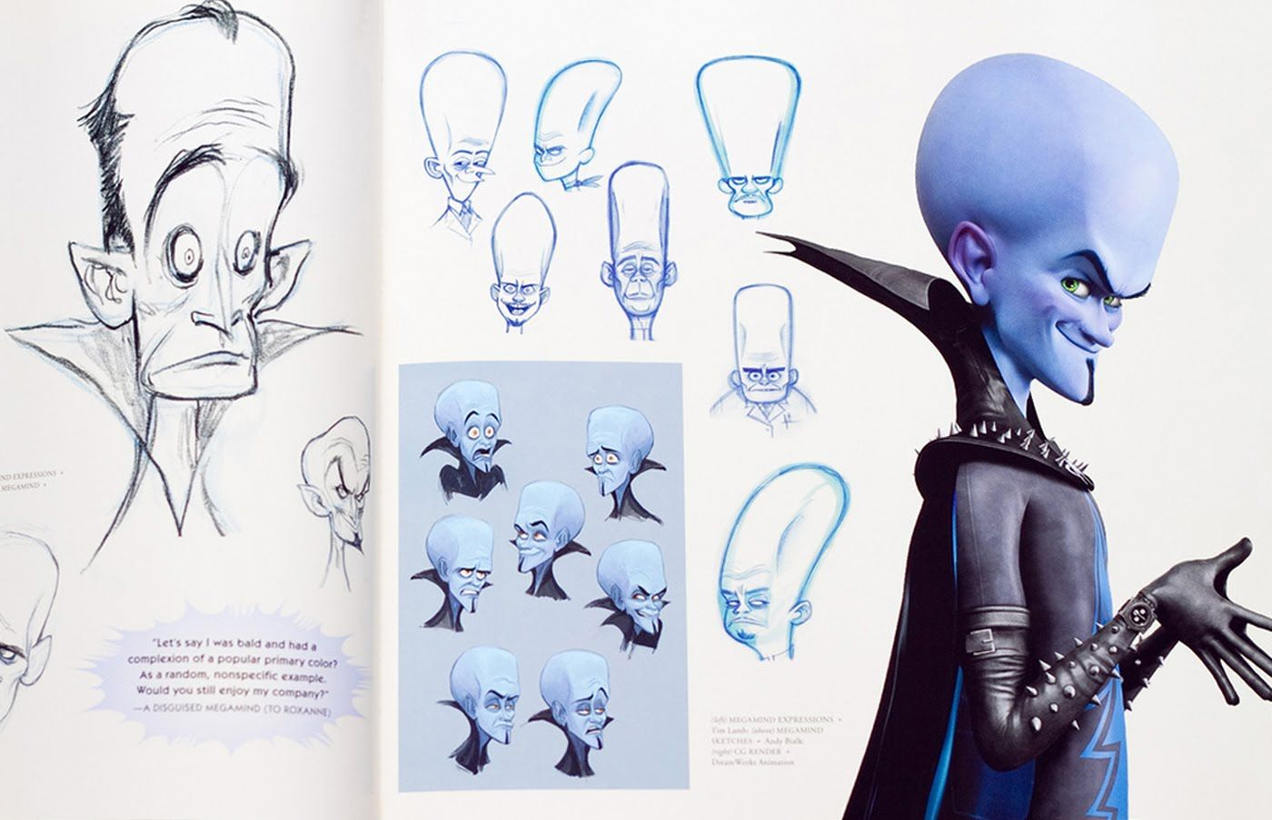 Character Design Library : Living lines library megamind concept art